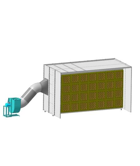 Сухие окрасочные кабины применяется для установки в отделочных цехах мебельных, индустриальных окрасочных производств.